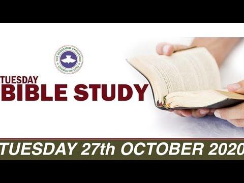 RCCG OCTOBER 27th 2020 BIBLE STUDY