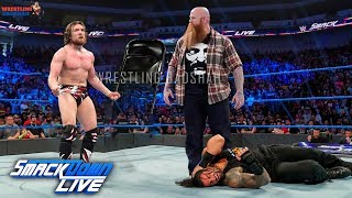 ROMAN REIGNS GETS ATTACKED BY DANIEL BRYAN & ERIC ROWAN AT SMACKDOWN LIVE??!!