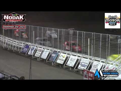 Nodak Speedway IMCA Sport Mod A-Main (Motor Magic Night #1) (9/3/21) - dirt track racing video image