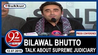 Bilawal Bhutto To Address 'important' Press Conference Today | 13  July 2019 | 92NewsHD