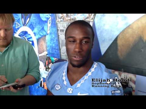 UNC football running back Elijah Hood discusses the upcoming season at the team's media day on August 12th, 2015. Video by C Jackson Cowart, Editing by Gabriella Cirelli.