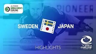 HIGHLIGHTS: Sweden v Japan - round robin - Pioneer Hi-Bred World Men's Curling Championship 2019