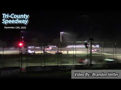Tri-County Speedway IMCA Modified Races (Sauerkraut 500 Night #1) (9/12/20) - dirt track racing video image