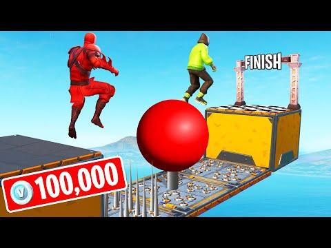 FINISH FIRST To WIN 100,000 V-Bucks! (Fortnite 150 LEVEL Deathrun) - UC0DZmkupLYwc0yDsfocLh0A