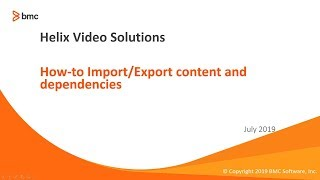 How-to Import/Export content and dependencies