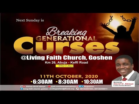 BREAKING GENERATIONAL CURSES - 1ST SERVICE   OCTOBER 11, 2020