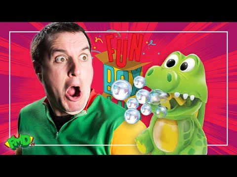 Dan takes a bubble to the eye!