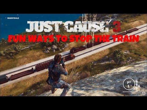 Just Cause 3 Fun Ways To Stop The Train - UCDIClRyQatUpgC8b1Oi-1gA