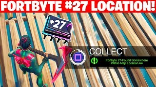 Fortbyte 27 Location - Found Somewhere Within Map Location A4