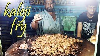 Masala Tawa Fry Kaleji | Beef Kaleji at Street Food of Karachi Pakistan | Liver Fry
