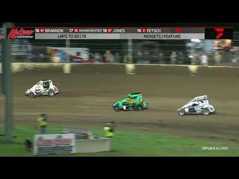 USAC Midwest Regional Midget Highlights | Kokomo Speedway | Kokomo Klash | 10/16/2021 - dirt track racing video image