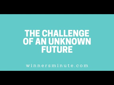 The Challenge of an Unknown Future // The Winner's Minute With Mac Hammond