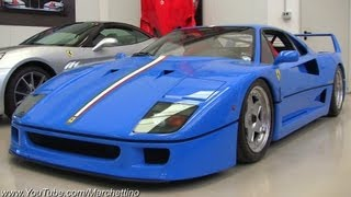 Blue Ferrari F40 Tricolore - One of a kind