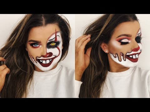 MELTED PENNYWISE CLOWN HALLOWEEN MAKEUP TUTORIAL! | Rachel Leary - UC-Um2u0Agv8Q-OhjO6FZk1g