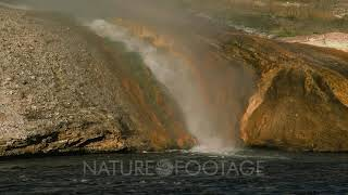 Hot Water Enters River Near Grand Prismatic Spring