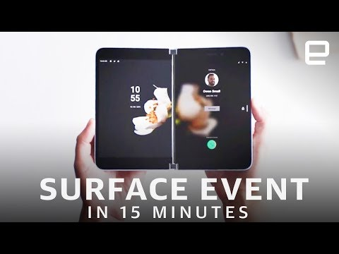 Microsoft Surface Neo and Duo announcement in 15 minutes - UC-6OW5aJYBFM33zXQlBKPNA