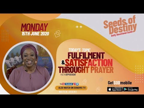 Dr Becky Paul-Enenche - SEEDS OF DESTINY  MONDAY JUNE 15, 2020