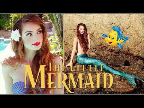 ariel 'the little mermaid' makeup  hair transformation