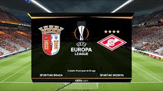 Braga vs Spartak Moscow | Estádio Municipal de Braga | UEFA Europa League Play-off Round | PES 2019