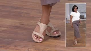 Vionic Adjustable Embossed Platform Slide Sandals - Ellie on QVC