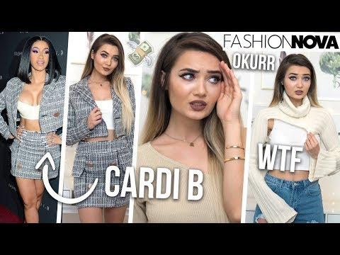 TRYING ON CARDI B X FASHION NOVA CLOTHING... SIS HOW MUCH!? - UCBKFH7bU2ebvO68FtuGjyyw