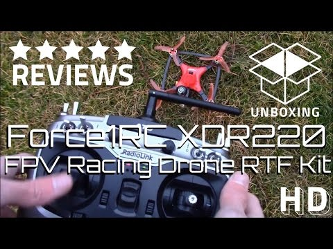 FPV Racing Drone RTF Kit Review | Force1RC DYS XDR220 Quadcopter Unboxing - UCqJs7Zse2OiG1iEc56CvWqA