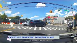Cyclists celebrate 2nd Avenue bike lane