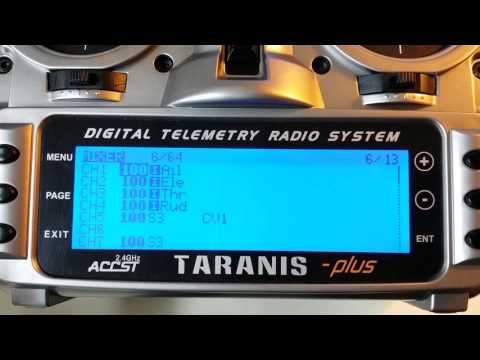 FrSky Taranis Setup 6 Flight Modes Mix plus 1 for APM Ardupilot