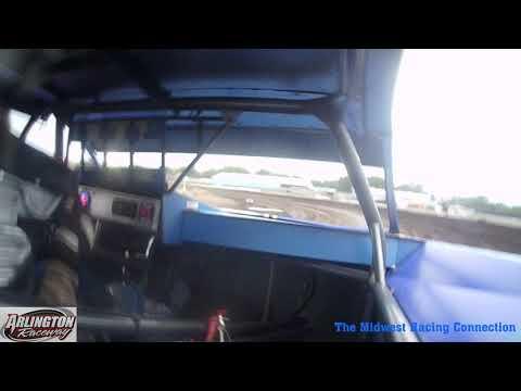 Dean Cornelius Heat Win - Arlington Raceway 08/04/2021 - dirt track racing video image