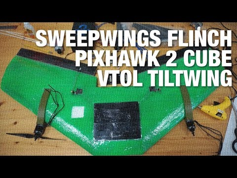 SweepWings Flinch with Pixhawk 2 Cube and PX4 VTOL TiltWing/Tailsitter - UC_LDtFt-RADAdI8zIW_ecbg
