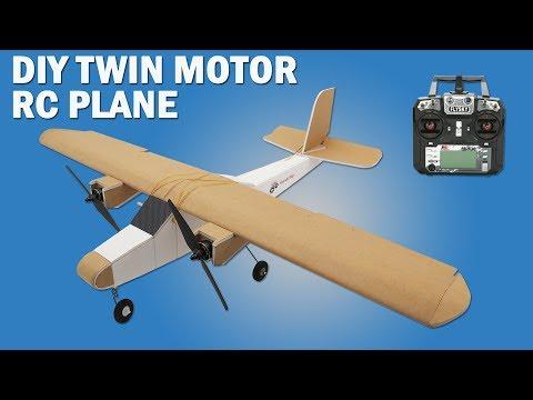 How To Make Twin Motor RC Model Airplane - DIY Brushless Motor Model Airplane. - UCgjJGE17yfovAvWUzEJFENA