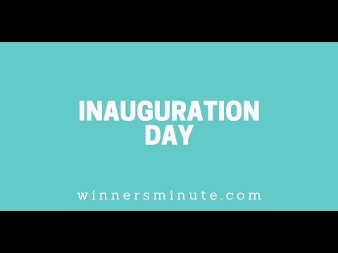 Inauguration Day // The Winner's Minute With Mac Hammond
