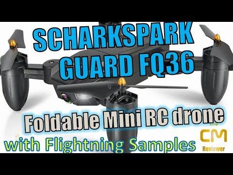 Scharkspark Guard FQ36 Test: Klappbare Mini Drohne Hands-on und Flug (Deutsch) - UC7vw8JotiSlGmcMueETTVQg