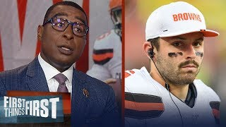 Cris Carter offers advice to Baker Mayfield after Daniel Jones comments   NFL   FIRST THINGS FIRST