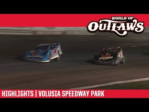 World of Outlaws Morton Buildings Late Model Series Feature Event Highlights from Volusia Speedway Park in Barberville, Florida on February 15th, 2019.  For more information and full results: www.woolms.com For extended race highlights: www.DirtonDirt.com - dirt track racing video image