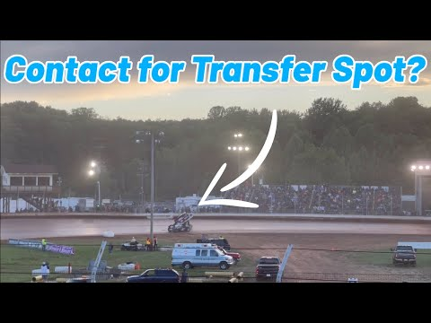 Tanner Holmes CONTACT FOR THE TRANSFER SPOT at Sharon Speedway....(OHIO SPEEDWEEK) - dirt track racing video image