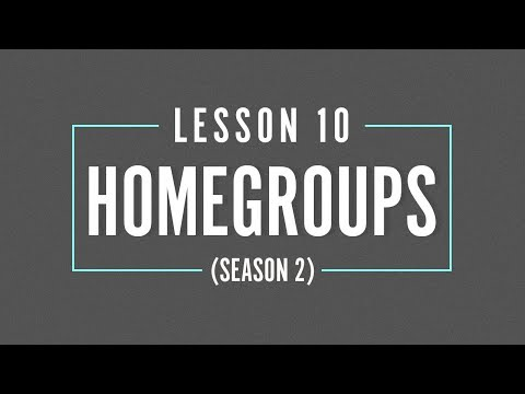 HOME GROUP Season 2 - LESSON 10 - Walk in Holy Spirit