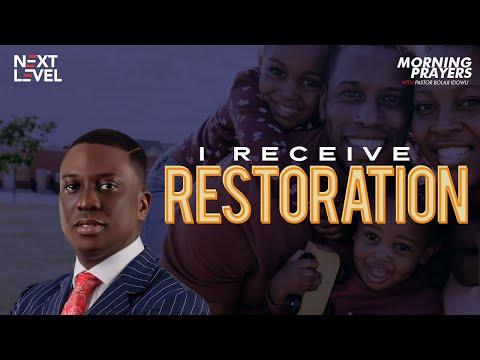Next Level Prayers  I Receive Restoration  Pst Bolaji Idowu  20th August 2021