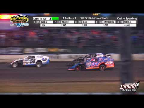 Casino Speedway 8/15/21 WISSOTA Midwest Mod Final Laps - dirt track racing video image