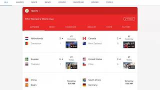 Women's World Cup day 9 results