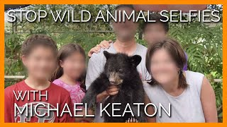 Michael Keaton Wants You to Stop Taking Selfies With Wild Animals