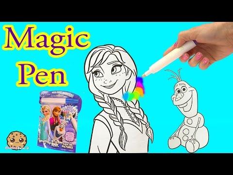 Disney Frozen Imagine Ink Rainbow Color Pen Art Book with Surprise Pictures Cookieswirlc Video - UCelMeixAOTs2OQAAi9wU8-g