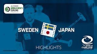 HIGHLIGHTS: Sweden v Japan - Semi-final - Pioneer Hi-Bred World Men's Curling Championship 2019