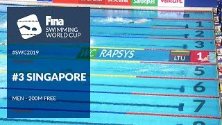 Men's 200m Freestyle | Day 2 Singapore #SWC19 | FINA Swimming World Cup 2019
