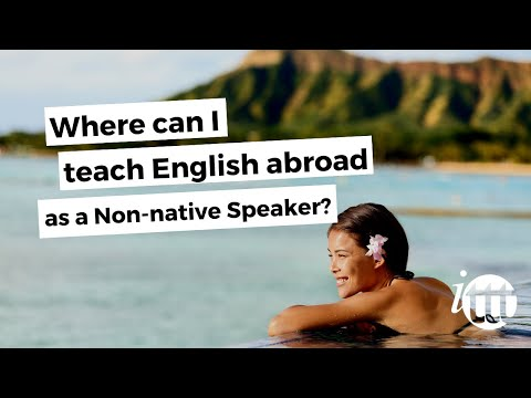 video listing some places where non-native TEFL teachers can work