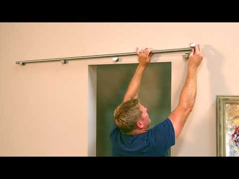 Glass barn doors how to install it
