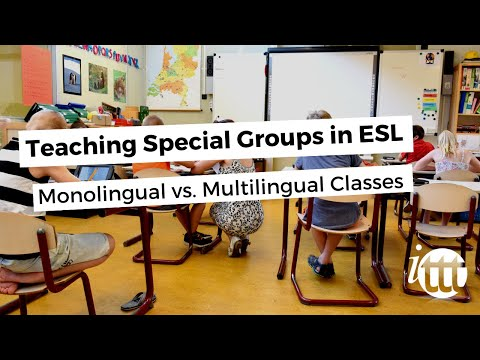 Teaching Special Groups in ESL - Monolingual vs. Multilingual Classes