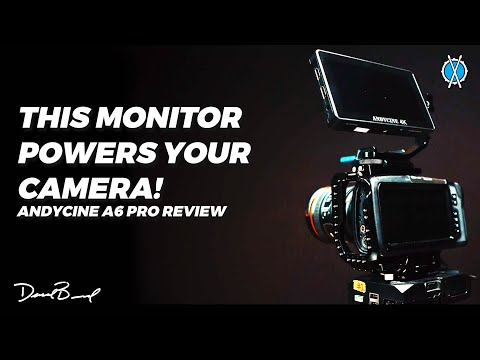 This monitor powers your camera! // Andycine A6 Pro 4K Camera Monitor Review