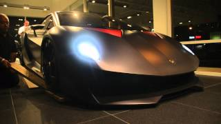 Lamborghini Sesto Elemento leaving Lamborghini Newport Beach