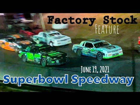 USRA Factory Stock Feature - Superbowl Speedway - June 19, 2021 - Greenville, Texas - dirt track racing video image